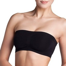 Miss Perfect Bandeau BH doppelt black S