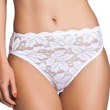 Miss Perfect Fantasy Rioslip Slip Spitze Unterhose Hipster Panty Hüftslip mit Spitze Weiß S (38)