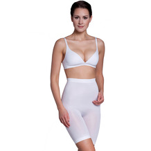 Miss Perfect Miederhose Bauchweg Unterhose Body Shaper seamless figurformend Weiß 2XL (46)