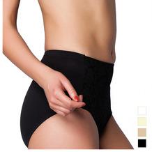 Miss Perfect Minimizer Taillenslip Jacquard Slip Spitze Unterhose Hohe Taille Schwarz 3XL (48)