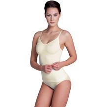 Miss Perfect Unterhemd Bauchweg Hemd Body Shaper Shaping Unterwäsche Top figurformend Champagner L (42)