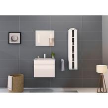 Möbilia Badezimmer Set 60 cm, 3 tlg. +A+ weiß Hochglanz 16020001