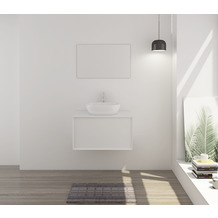 Möbilia Badezimmer Set 80 cm, 2 tlg. weiß 15020002