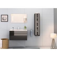 Möbilia Badezimmer Set 90 cm, 3 tlg. +A+ schwarz Hochglanz 16020005