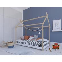 Möbilia Bett für Kinder natur/weiß 12020000