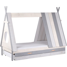 Möbilia Bett für Kinder weiß, grau 12020006