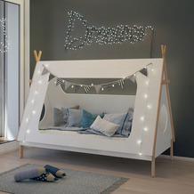 Möbilia Bett für Kinder weiß, natur 12020008