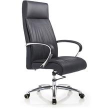 Möbilia Bürostuhl, schwarz schwarz, verchromt 15020015