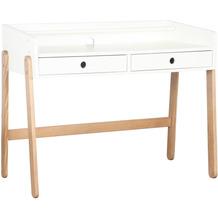 Möbilia Schreibtisch weiß, natur 12020014