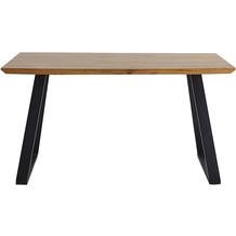 Möbilia Tisch 140x80 cm natur, Beine schwarz 18020007