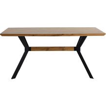 Möbilia Tisch 160x90 cm natur, Beine schwarz 18020008
