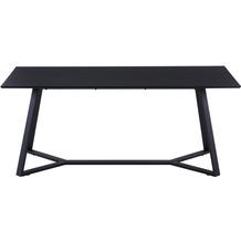 Möbilia Tisch 180x90 cm Platte grau, Gestell schwarz 12020039