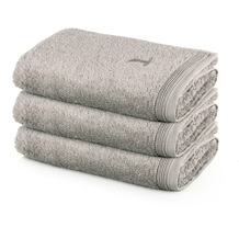 möve 3er Handtuch Set Superwuschel, 3x Handtuch 50 x 100 cm, Made in Germany cashmere 3X50X100