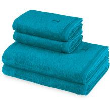 möve 4er Handtuch Set Superwuschel lagoon Handtuch 50 x 100 cm & Duschtuch 80 x 150 cm