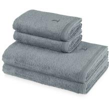 möve 4er Handtuch Set Superwuschel stone Handtuch 50 x 100 cm & Duschtuch 80 x 150 cm