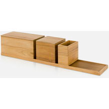 möve Ablageset, 5-teilig Teak wood 50x10x11cm