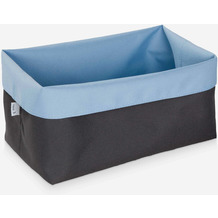möve Aufbewahrungskörbe Two Tone grey/blue 16,5 x 28 x 18 cm