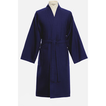 möve Bademantel Basic Waffelpiquee Kimono deep sea L