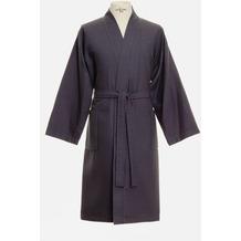 möve Bademantel Basic Waffelpiquee Kimono graphit L
