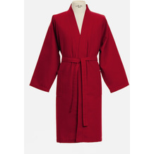 möve Bademantel Basic Waffelpiquee Kimono ruby L