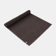 möve Badteppich Piquée mit Waffelstruktur graphite 60 x 100 cm