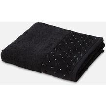 möve Duschtuch Crystals allover black 80 x 150 cm