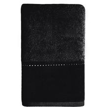 möve Gästetuch Crystal Collection Reihe black 30 x 50 cm
