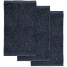 möve Gästetuch Superwuschel 3er-Pack dark grey 30 x 50 cm