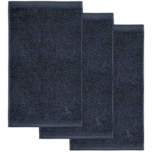 möve Gästetuch Superwuschel 3er-Pack dark grey 30 x 50 cm
