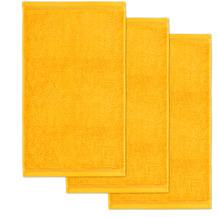 möve Gästetuch Superwuschel 3er-Pack gold 30 x 50 cm