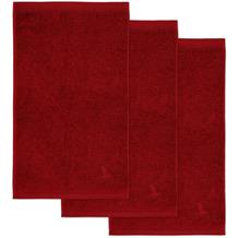 möve Gästetuch Superwuschel 3er-Pack ruby 30 x 50 cm