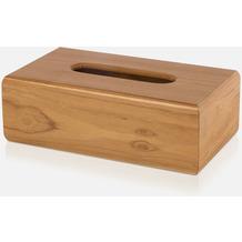 möve Kosmetiktuchbox Teak wood 24,5x14x8cm