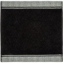 möve Seiftuch Brooklyn, Uni, mit Fischgratbordüre black 30 x 30 cm
