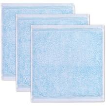 möve Seiftuch Superwuschel 3er-Pack aquamarine 30 x 30 cm