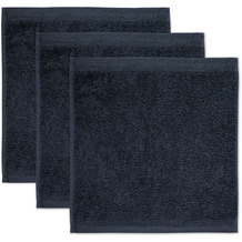 möve Seiftuch Superwuschel 3er-Pack dark grey 30 x 30 cm