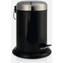 möve Treteimer Push black Ø 22 x 29,5 cm
