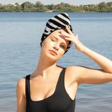 möve Turban Zebra black/ivory 27 x 67 x 0,5 cm
