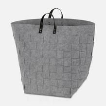 """möve Wäschekorb """"Grey Flannel"""" light grey 35x35x50cm"""