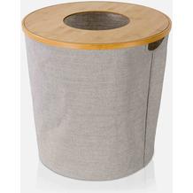 möve Wäschekorb mit Deckel Bamboo wood