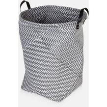 möve Wäschekorb Weave grey Ø 40 x 50 cm