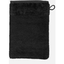 möve Waschhandschuh Bamboo Luxe black 20 x 15 cm