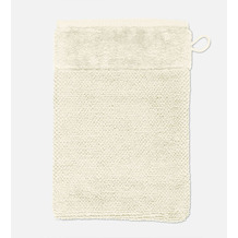 möve Waschhandschuh Bamboo Luxe ivory 20 x 15 cm