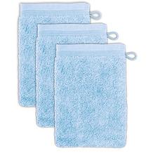 möve Waschhandschuh Superwuschel 3er-Pack aquamarine 20 x 15 cm