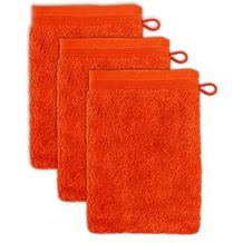 möve Waschhandschuh Superwuschel 3er-Pack red orange 20 x 15 cm