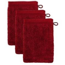 möve Waschhandschuh Superwuschel 3er-Pack ruby 20 x 15 cm