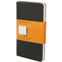 Moleskine Cahier pocket. Ruled. Black Cover. 3er Pack