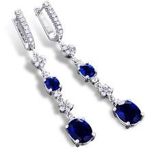 MONA MON'AMOUR Ohrhänger 925/- Sterling Silber rhodiniert Zirkonia blau weiß 13107