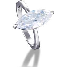 MONA MON'AMOUR Ring 925/- Sterling Silber rhodiniert mit funkelnden Zirkonia weiß 13177 52 (16,6)