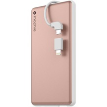 Mophie Powerstation Plus, rose gold - Externe Schnellade-Batterie mit Lightning und Micro-USB ( 6000 mAh)