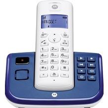 Motorola T211 DECT Telefon mit AB, blau